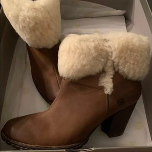 Born Dona Shearling Short Bootie